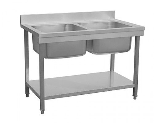 Combisteel 700 Stainless Steel Double Bowl Sink Flat Pack 1200mm Wide - 7455.0225